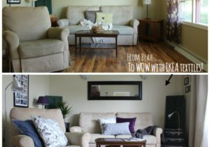 Quick & Easy Living Room Makeover – #IKEAMakeover – living room makeover