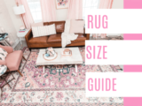 Rug Size Guide – at home with Ashley – living room rug size