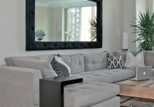 Sectional is from ABC Home, and retractable coffee table is from ..