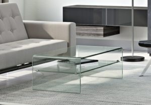 Sled Coffee Table with Storage – living room glass table