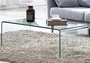 Tempered Glass Coffee Table,Living Room Clear Cocktail Table(19.19×19.19×19