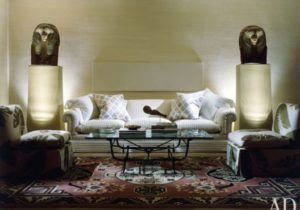The Allure of Uplights | Architectural Digest – living room uplighting