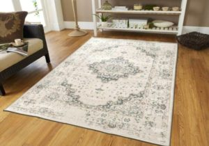 Traditional Distressed Area Rug 19×19 Large Rugs for Living Room 19×19 Gray  Ivory – living room 5×8 rug
