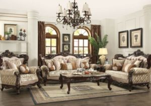 Traditional Luxury Living Room Furniture 20p Sofa Set Exposed Carved Wood  Frames – living room furniture sets