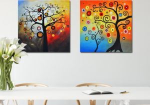 US $16.165 16% OFF|NEWBILITY Modern Canvas Art Print Klimt Style Lucky Tree  Paintings Living Room Decoration Hotel Bedroom Posters Hallway Wall ..