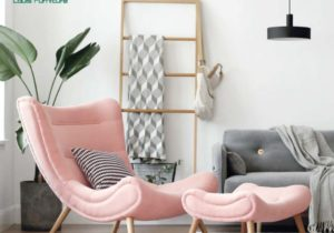 US $19.19 |Louis Fashion Single Sofa Nordic Style Living Room Furniture  Pink Small Snail Chair Modern Simple Cloth Art Tiger Chair.|Living Room ..