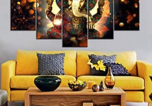 Wall Art for Living Room Deity Festival Artwork Paintings 16 Piece Ganesha  Hindu God Canvas Pictures Artwork Home Decor Modern Posters and Prints ..