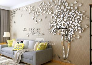 Wall Decals For Living Room Tree Acrylic Home Personalised Mirror – for living room