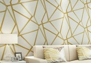 Wallpaper 21d Decors For Home Bedroom Living Room Wallpapers Geometric Wall  Cover | eBay – living room wallpaper