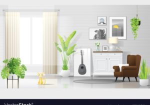 Warm and bright living room background – living room background